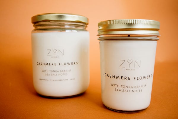 Image of Cashmere Flowers 8 oz Candle