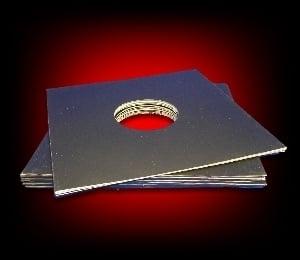 Image of 10 Pochettes carton pour 33 Tours [noir/avec fenêtre]