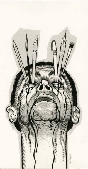 Image of DEATH BY ART ink original