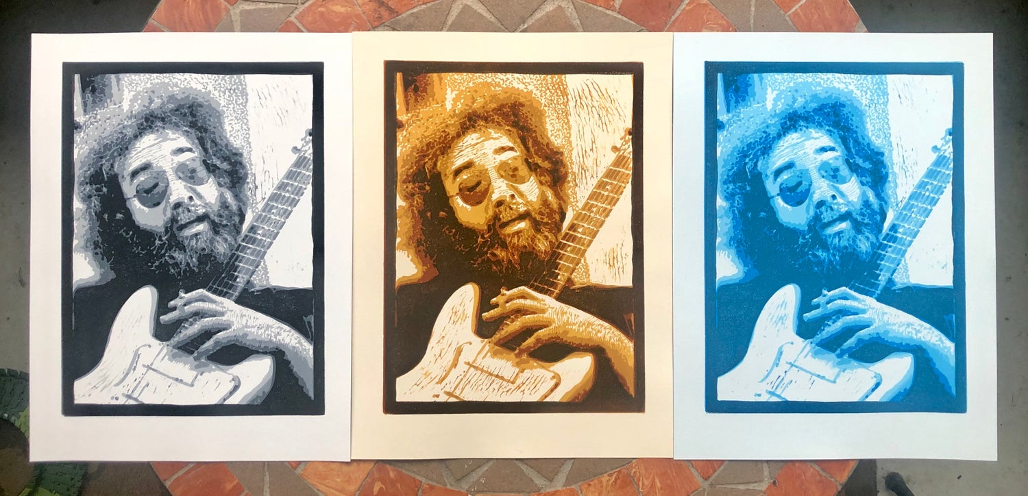 "Image of ""25 Years Gone"" Jerry Garcia prints"