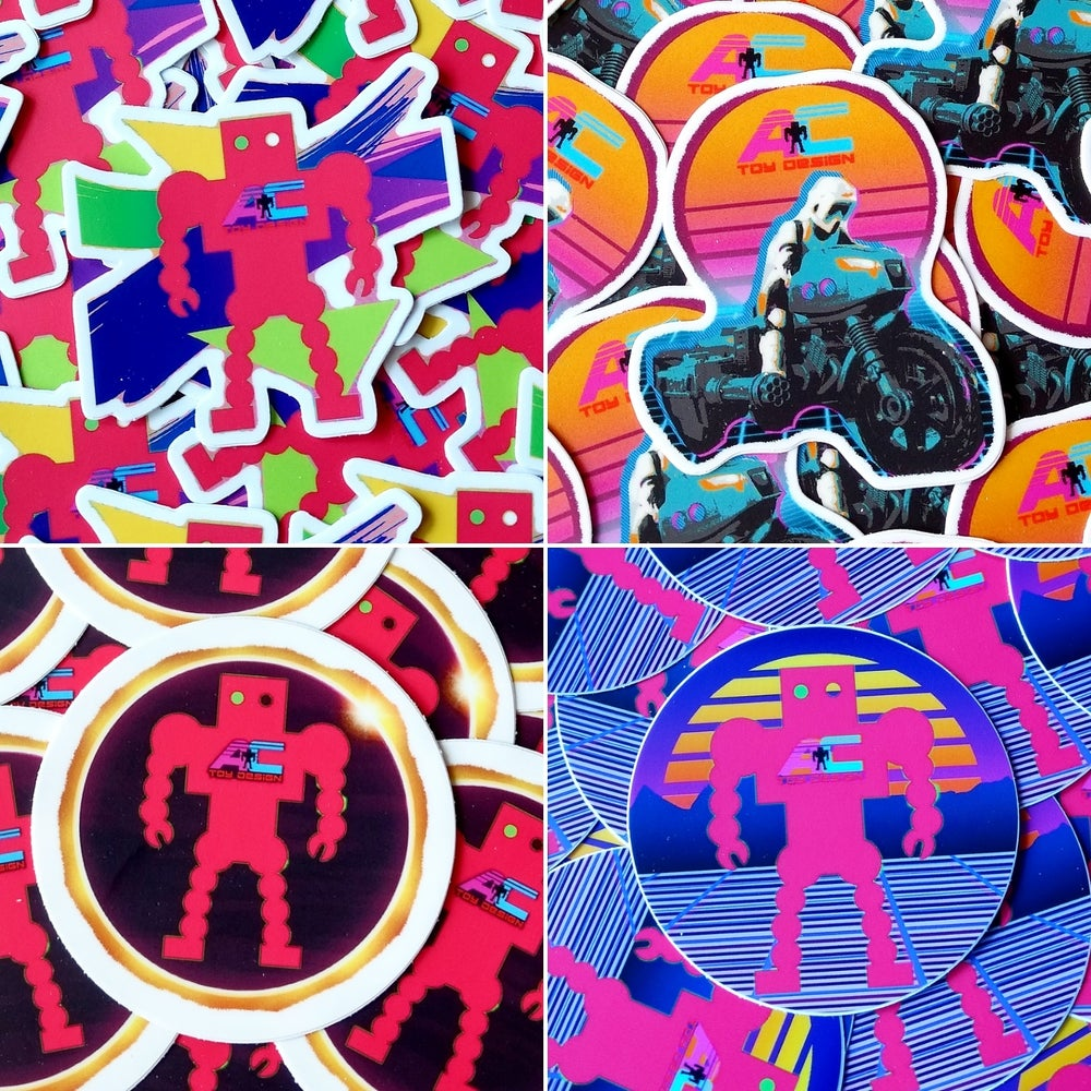 Image of Art Deco AC Toy Design Stickers