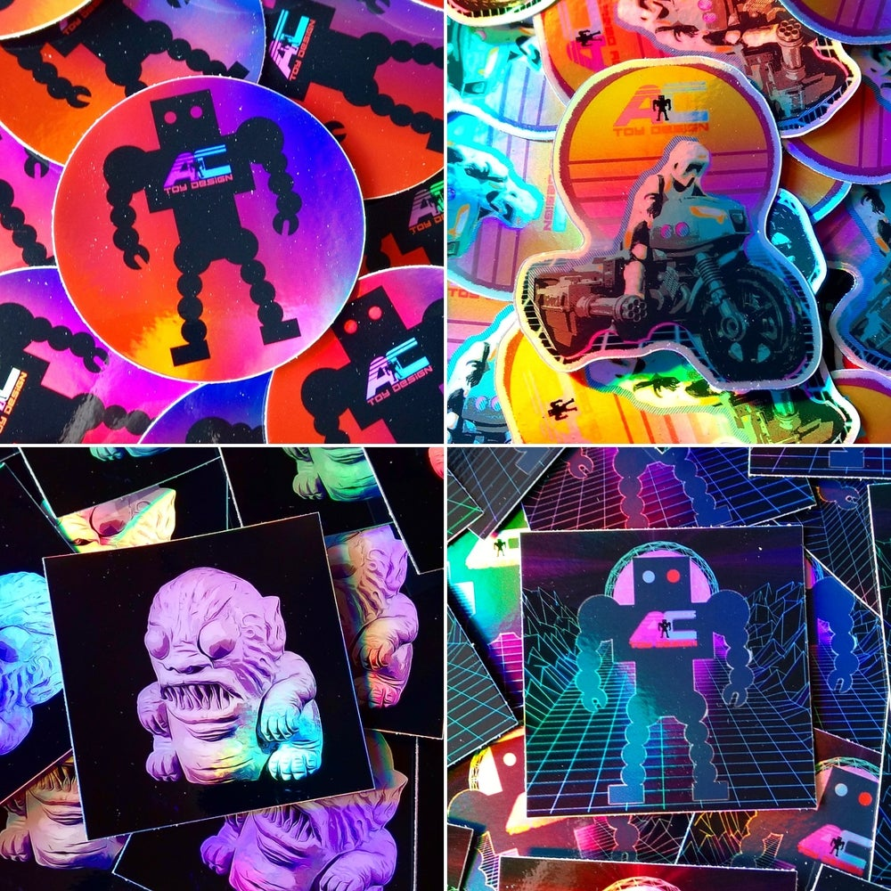 Image of Holographic AC Toy Design Stickers!