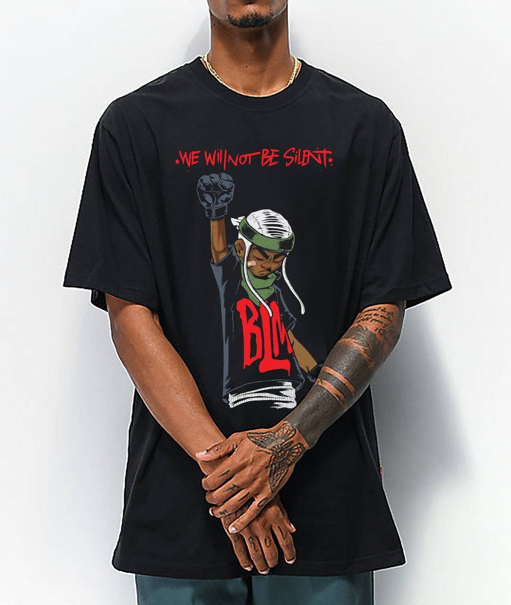 """Image of """"We will not be silent"""" Limited edition tee."""