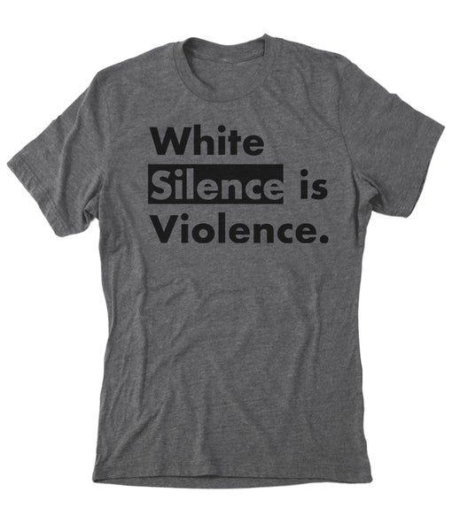 Image of White Silence Grey Tee