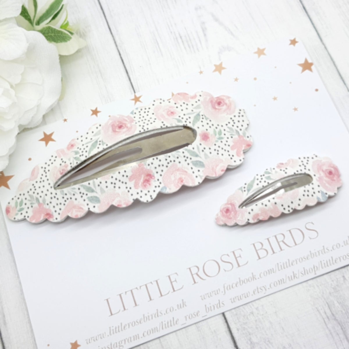 Image of Mummy & Me Dotty Floral Matching Snap Clip Set