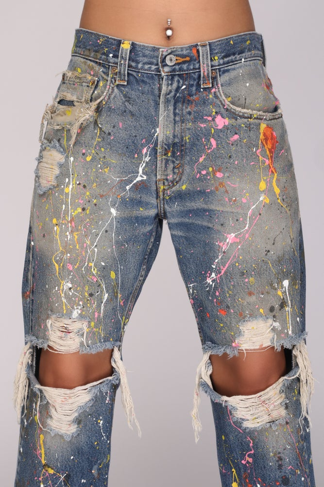 Image of Confetti Jawn Jeans