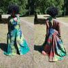 Denim Handmade Tye-Dye Maxi Dresses (1)