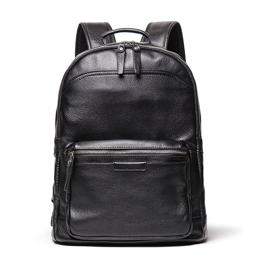 Image of Full Grain Leather Backpack, Men Travel Backpack  LJ 88120