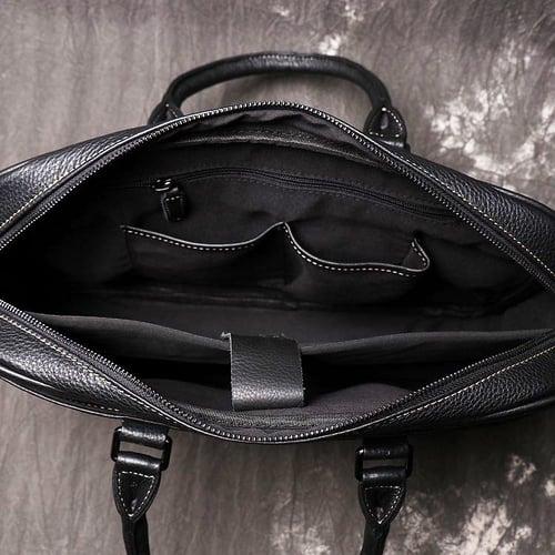 Image of Genuine Leather Briefcase, Men's Messenger Bag, Laptop Bag LJ1060