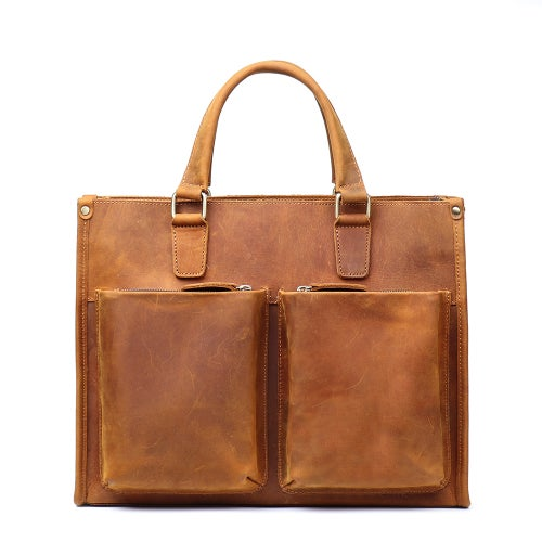 Image of Handmade Crazy Horse Leather Briefcase ,Messenger Bag, Laptop Bag LJ9054