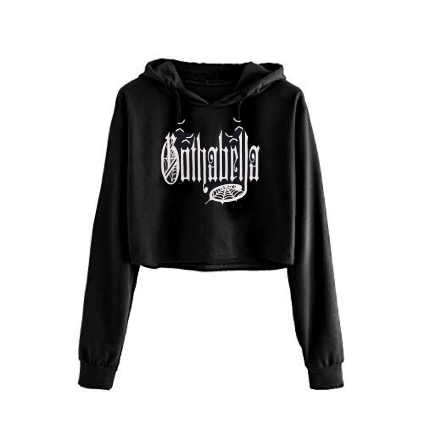 Image of Gothabella Cropped Hoodie