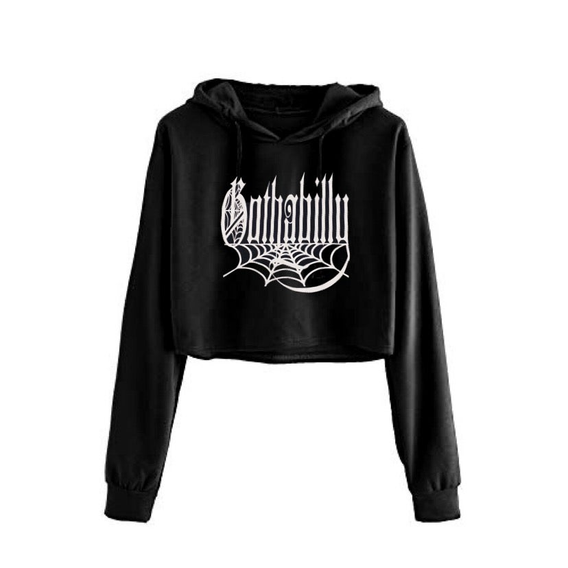 Image of Gothabilly Cropped Hoodie