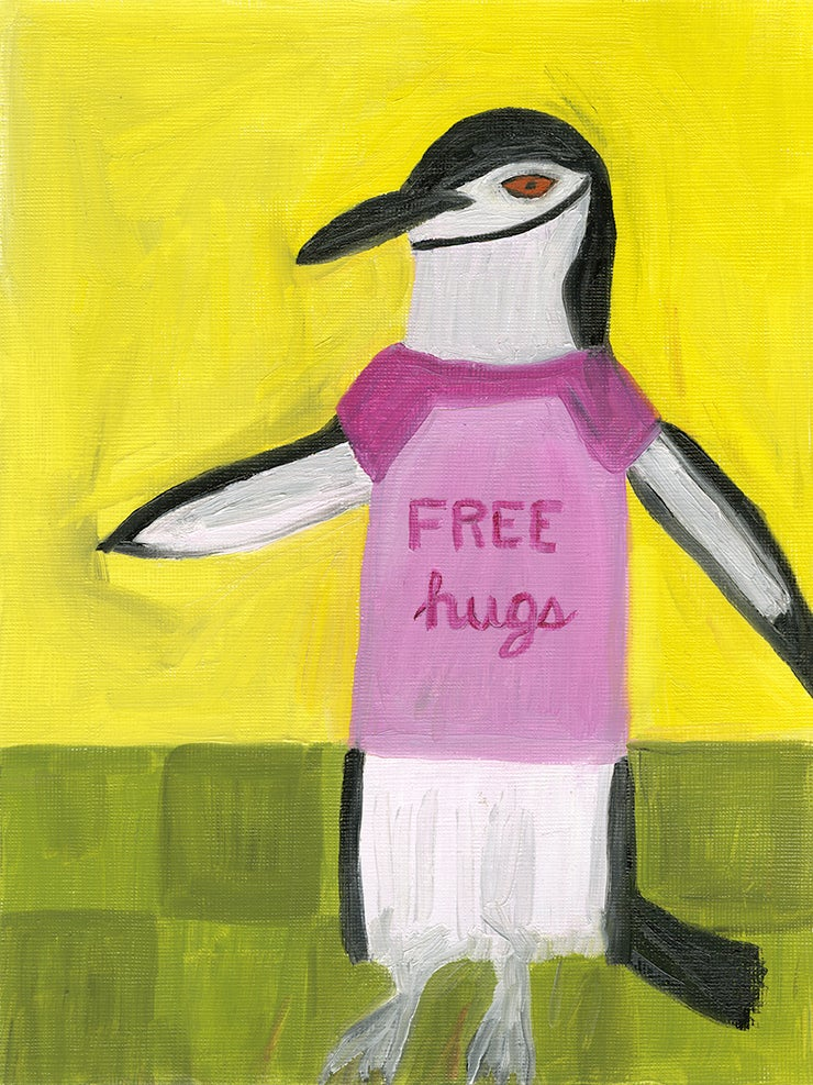 Image of Free hugs. Limited edition print.