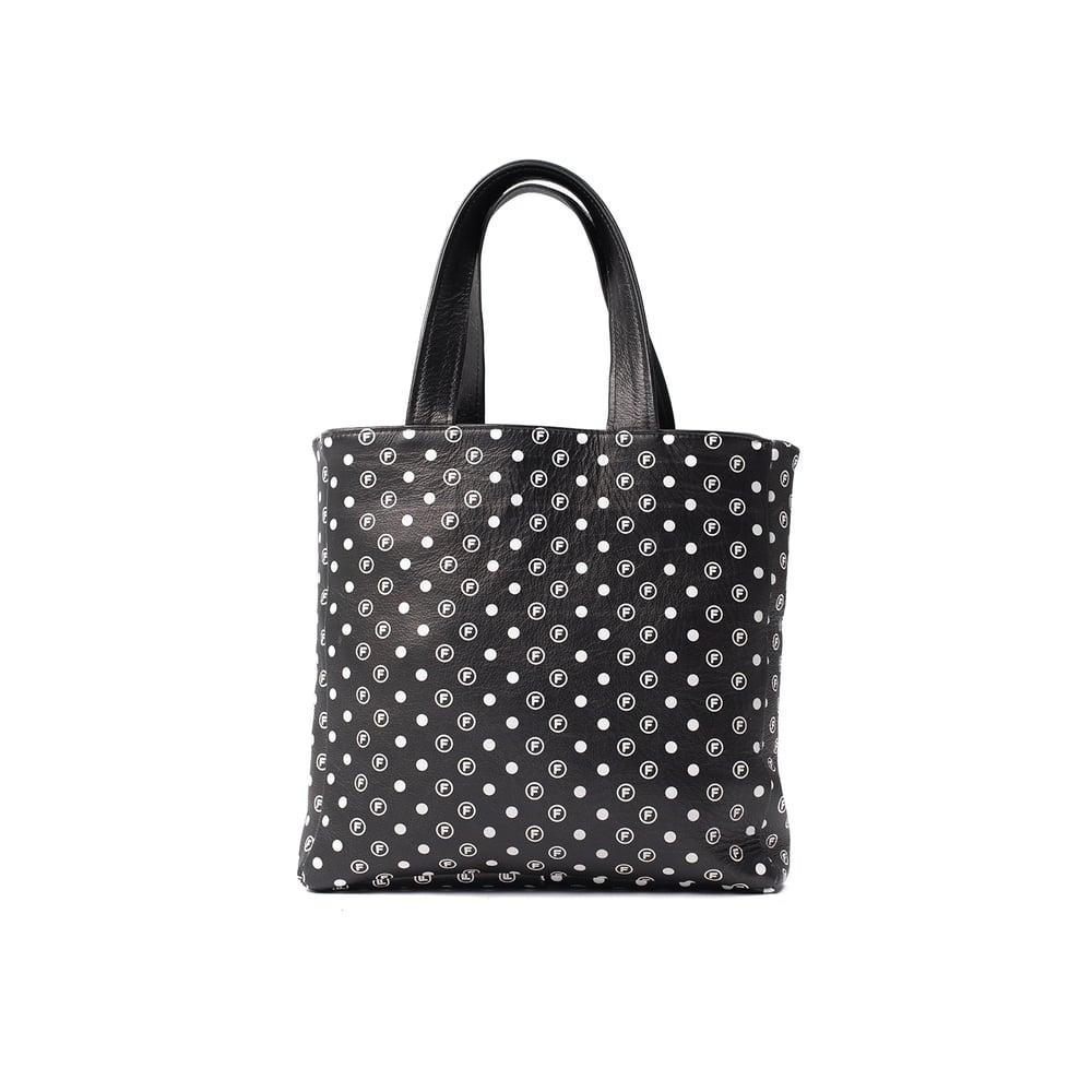 Image of OriginalFani®design Leather Fan-dana™ Tote Bag (Black) PRE-ORDER