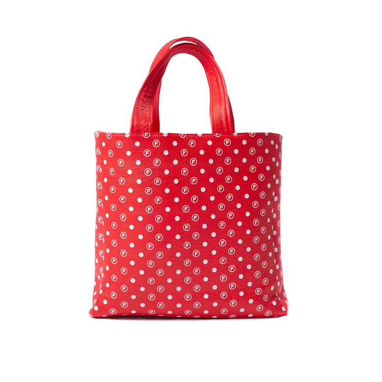 Image of OriginalFani®design Leather Fan-dana™ Tote Bag (Red) PRE-ORDER