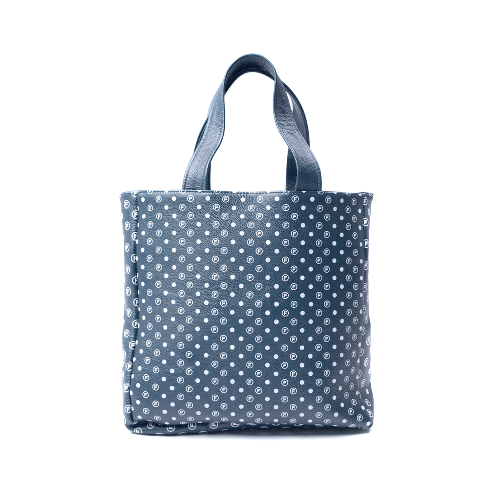 Image of OriginalFani®design Leather Fan-dana™ Tote Bag (Navy) PRE-ORDER