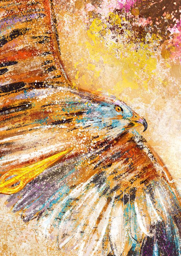 Lughnasadh Red Kite  Giclée Art Print