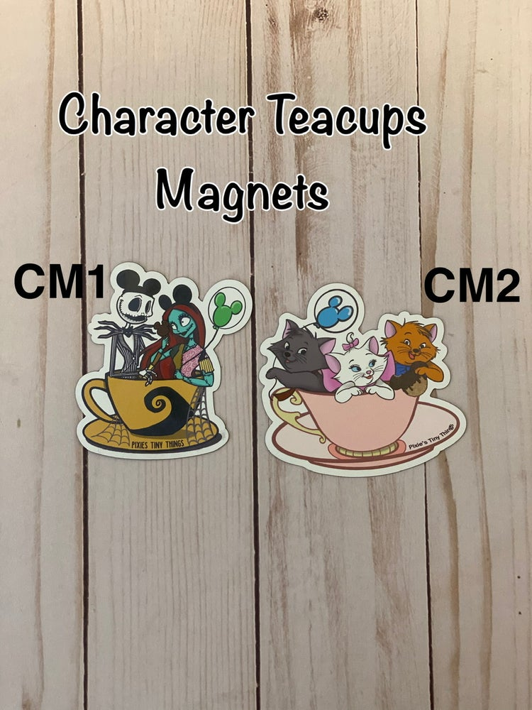 Image of Characters in Teacups-Magnets