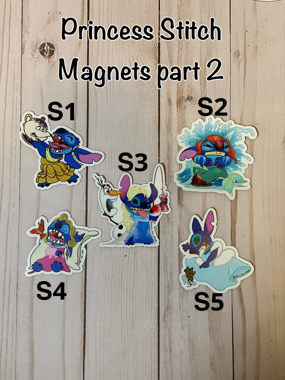 Princess Stitch Magnets