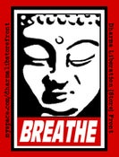 "Image of ""Breathe"" Sticker"