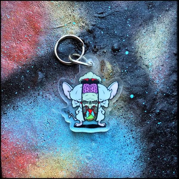 Image of Brain Splice keychain charm