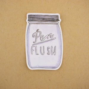 """""""Pen Flush"""" Stickers (Pack of 3)"""