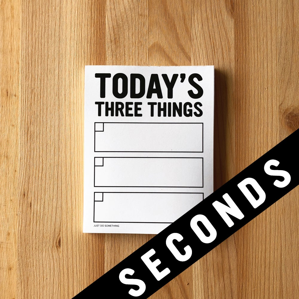 Image of SECONDS SALE - THREE THINGS NOTEPAD
