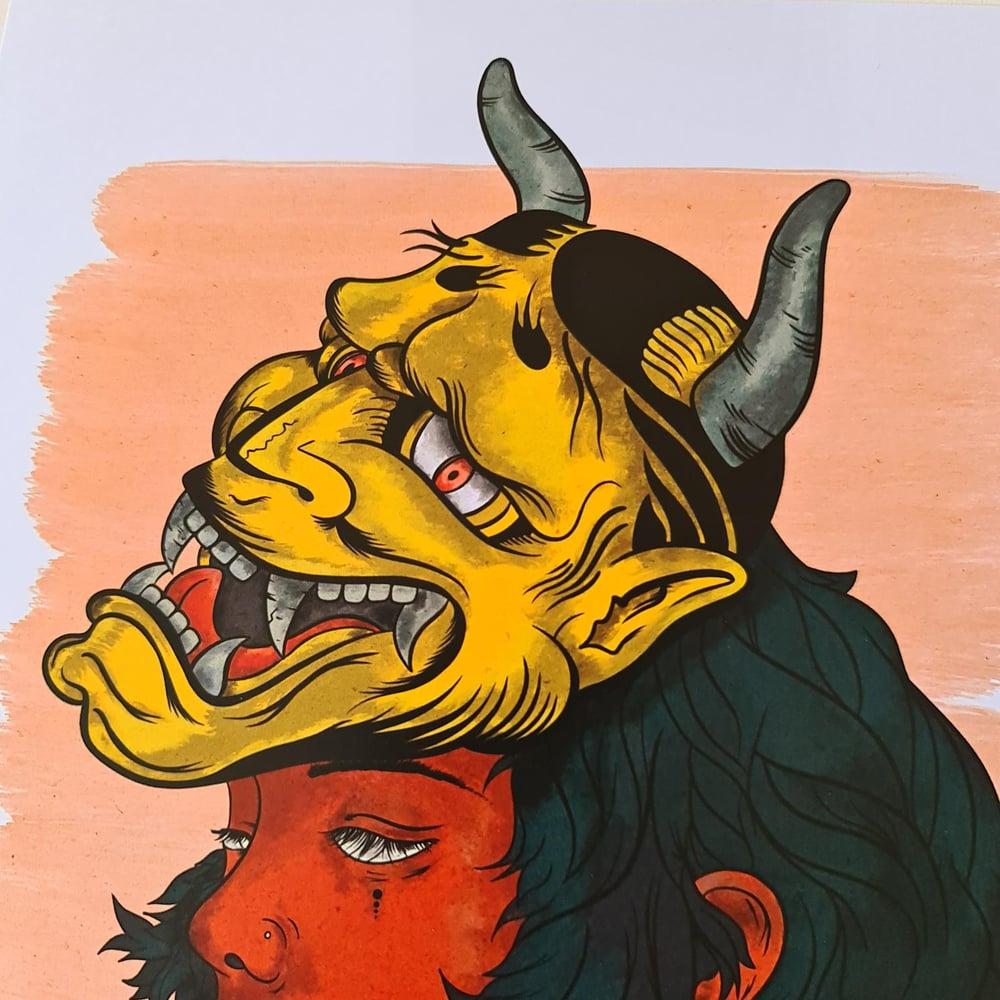Image of Yellow Tengu Mask