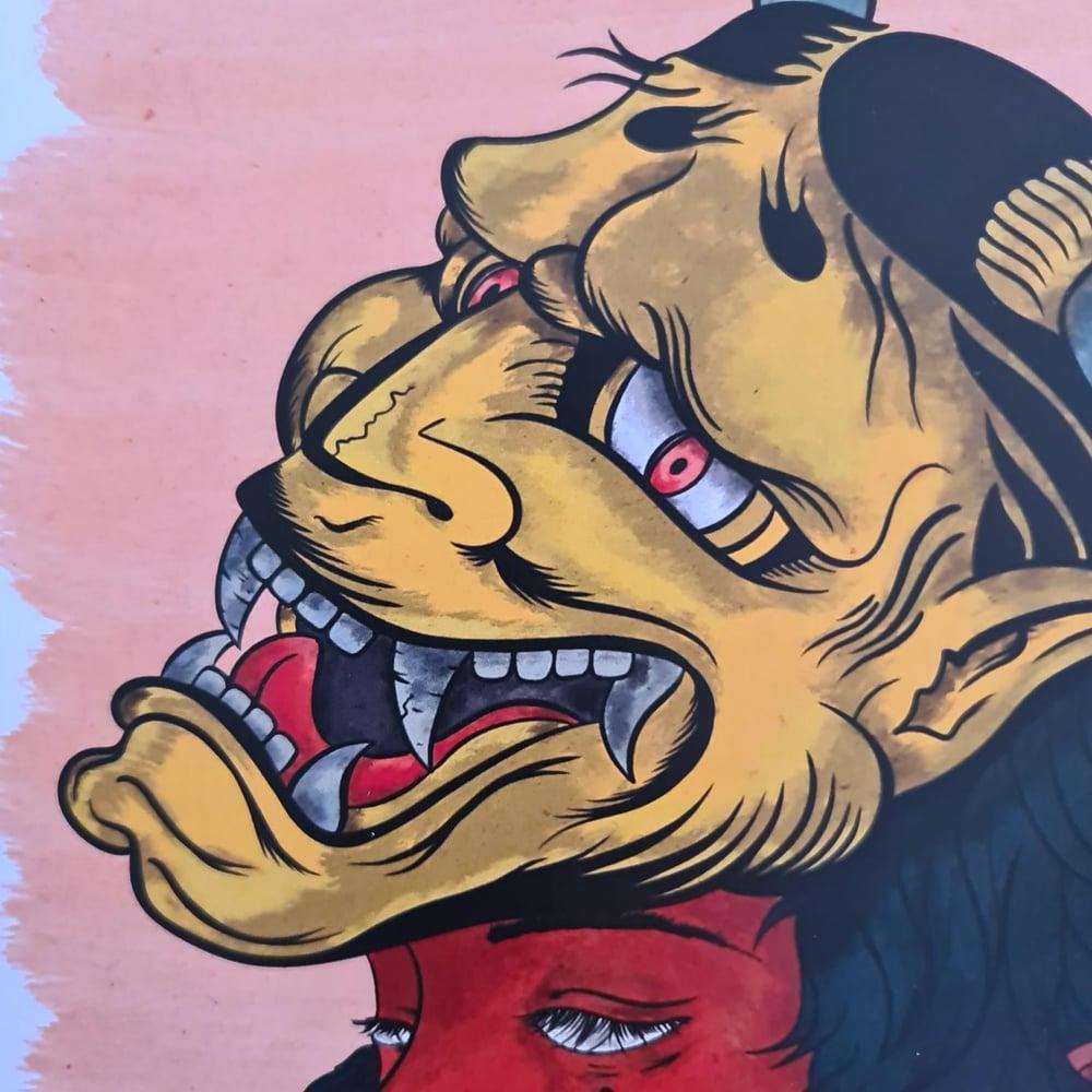 Yellow Tengu Mask