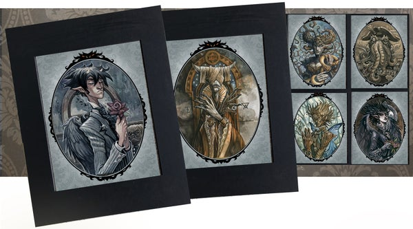 Image of Thornclaw Manor Monster Family Archival Art Prints!
