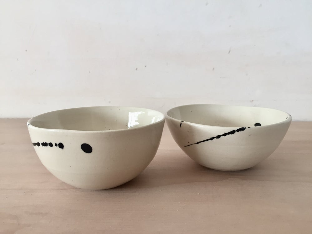 Image of Indigo Splatter Ice Cream Bowls