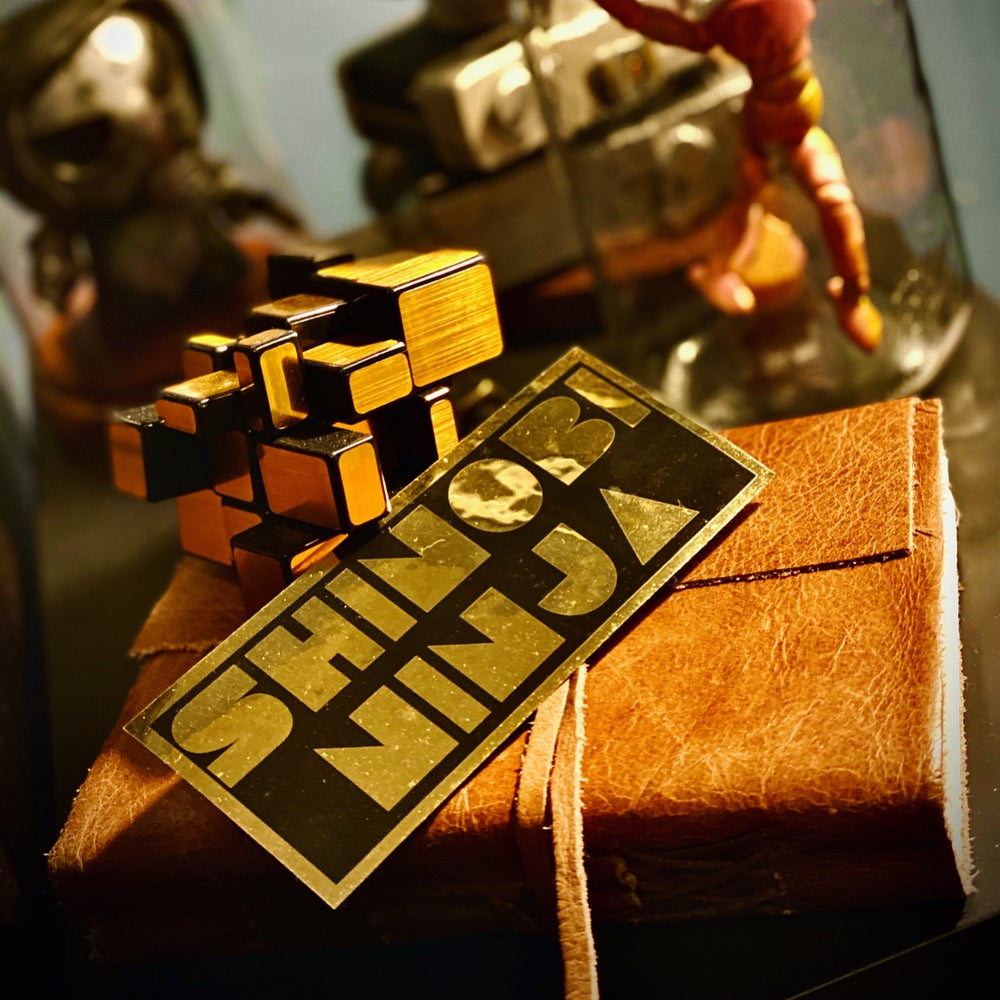 Image of Shinobi Ninja Gold Vinyl Sticker (Limited Edition)