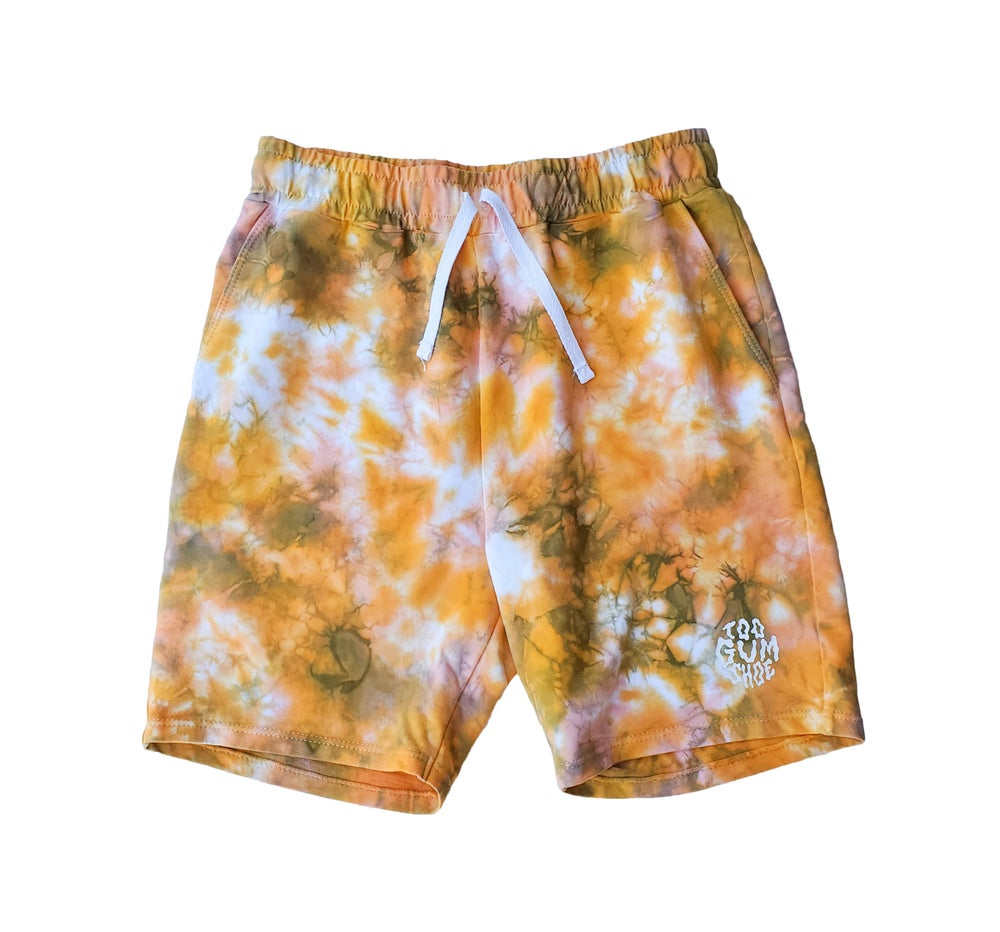 Image of Tie Dye Cut & Sew Sweatshorts