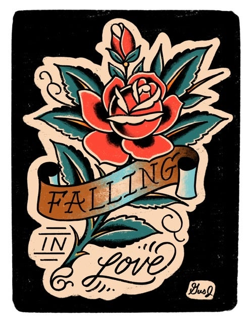"Image of ""Falling In Love"" 8.5x11 inch print"