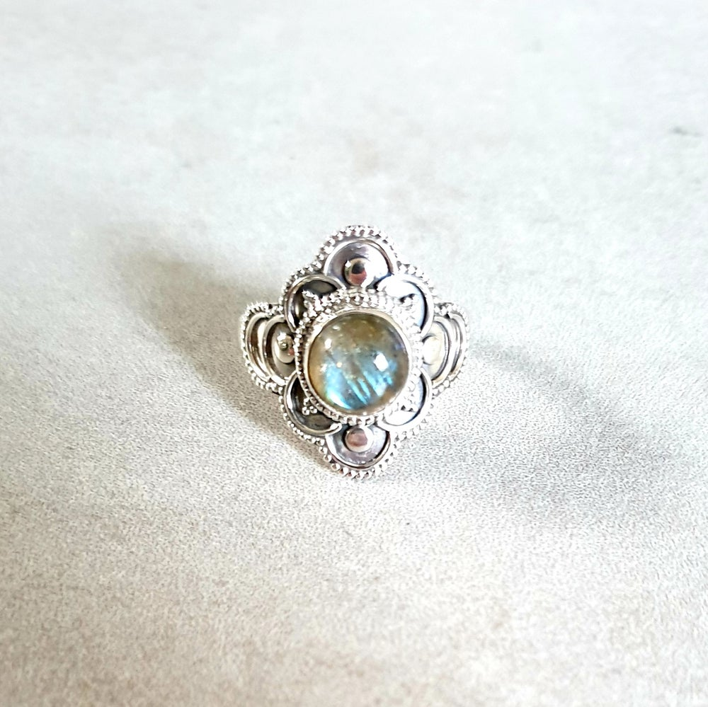 Image of LABRADORITE 'Trust' Sterling Silver Ring - Size 9