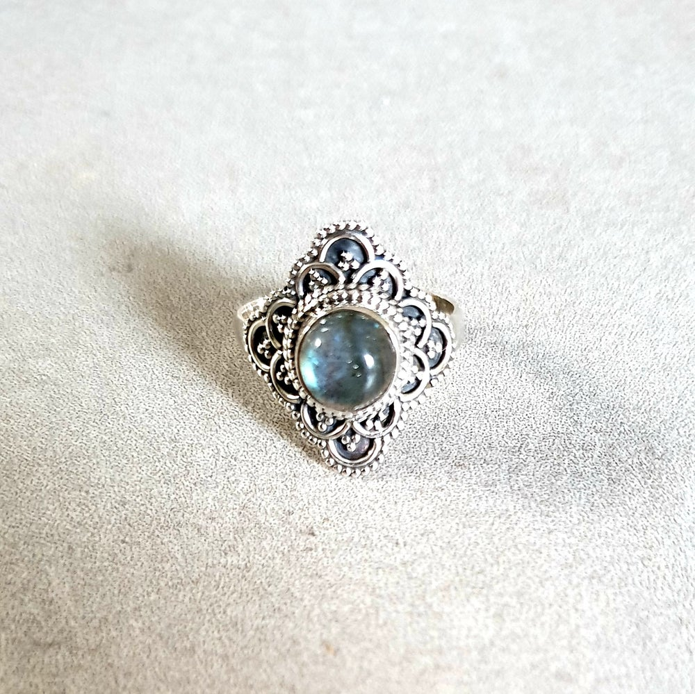 Image of LABRADORITE 'Trust' Sterling Silver Ring - Size 6