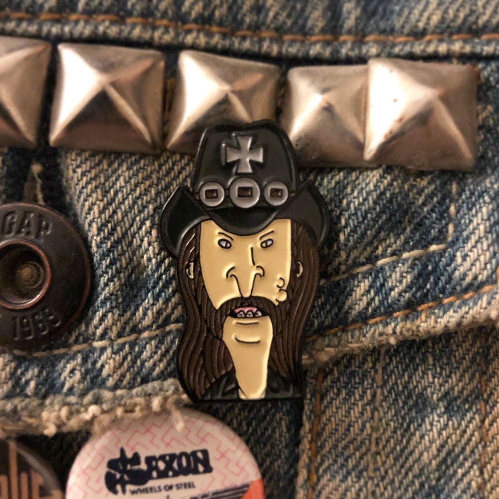 Image of Lemmy Butthead Enamel Pin!