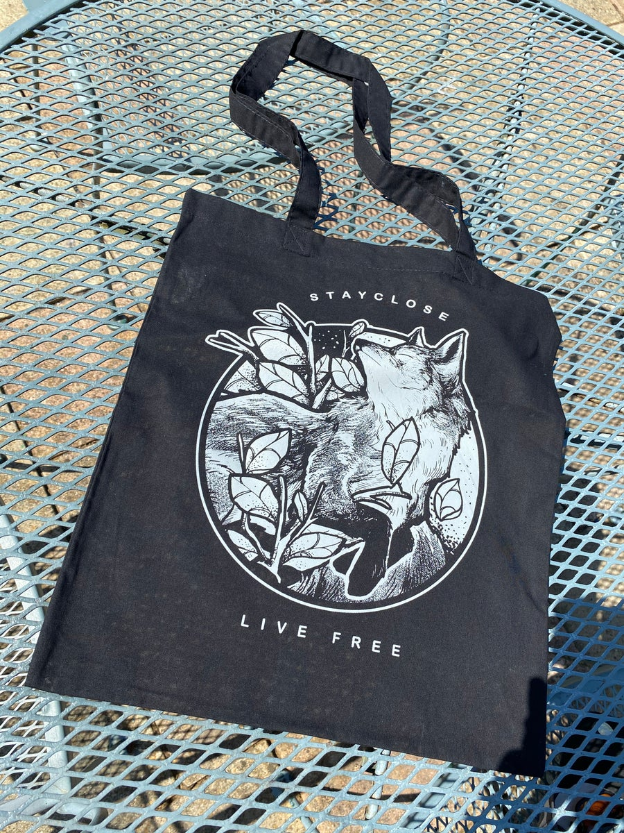 Image of Live free tote bags
