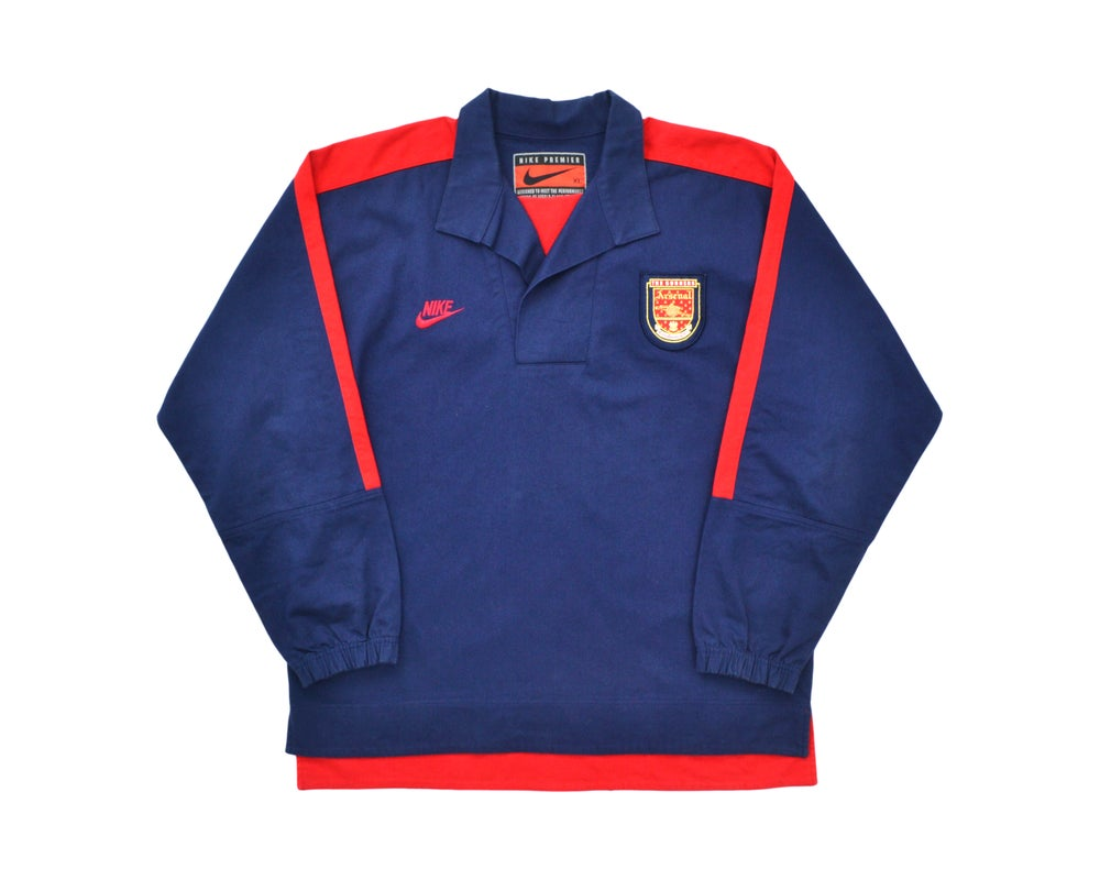 Image of 1994-96 Nike Arsenal Drill Top XL