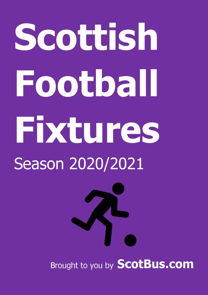 Image of Scottish Football Fixtures 2020/2021 - Hard Copy