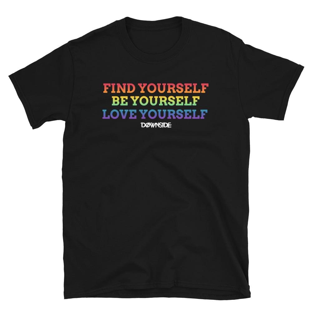 Image of Love Yourself Rainbow Tee