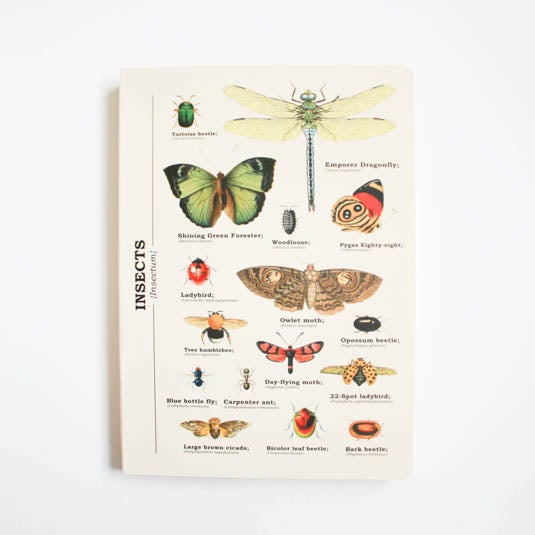 Image of Insects Print A5 Lined Notebook