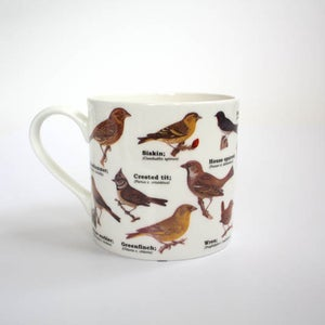 Image of Garden Birds Print Bone China Mug