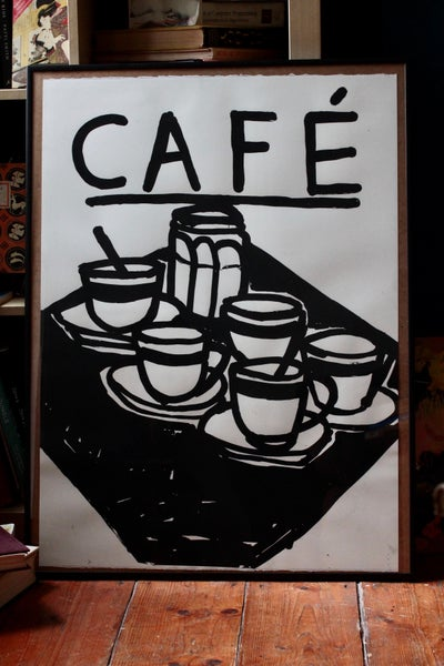 Image of Café - oversized screen print