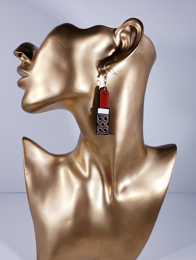 Image of Mini Lipstick Earrings