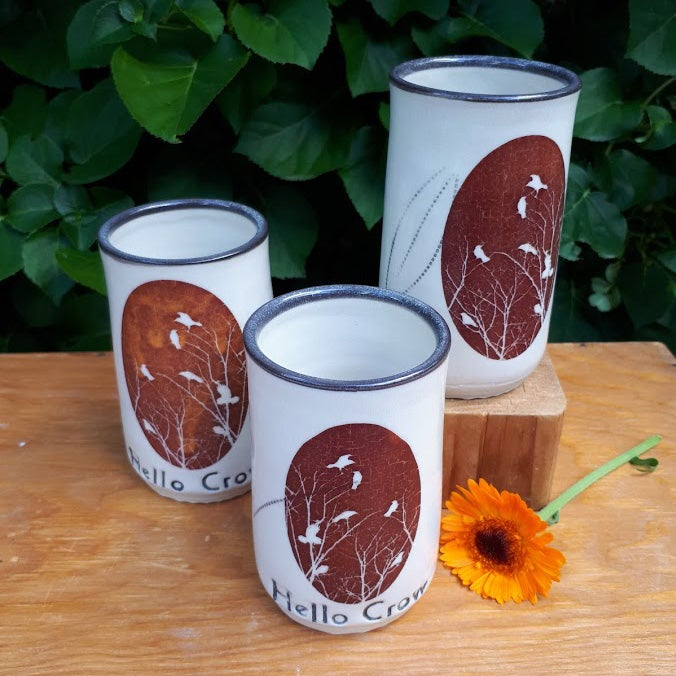 Image of Hello Crow Wine cups by Bunny Safari