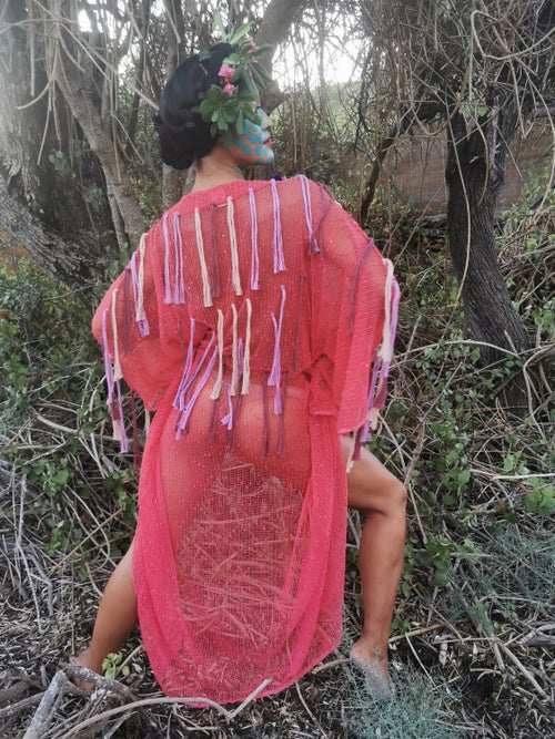 Image of Raspberry Coral Kimono