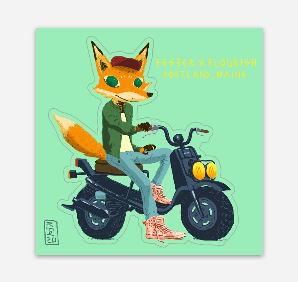Image of SCOOT FOX Kiss-Cut Vinyl Sticker