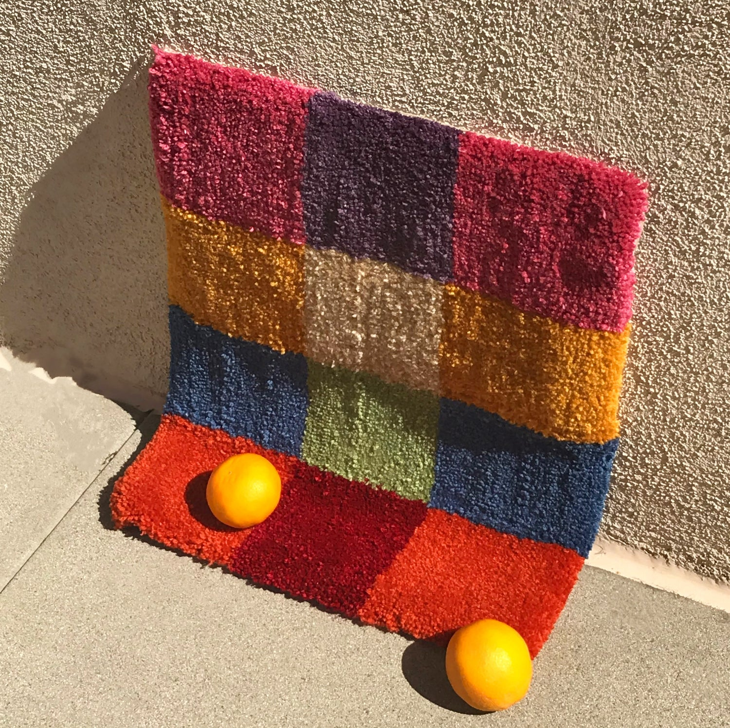 Image of Multicolored Checkered Rug