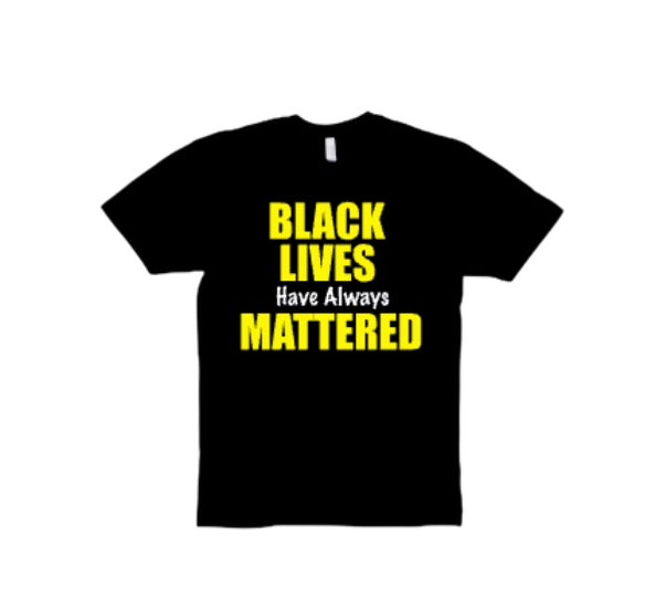 "Black/Yellow ""BLM"" Tee"